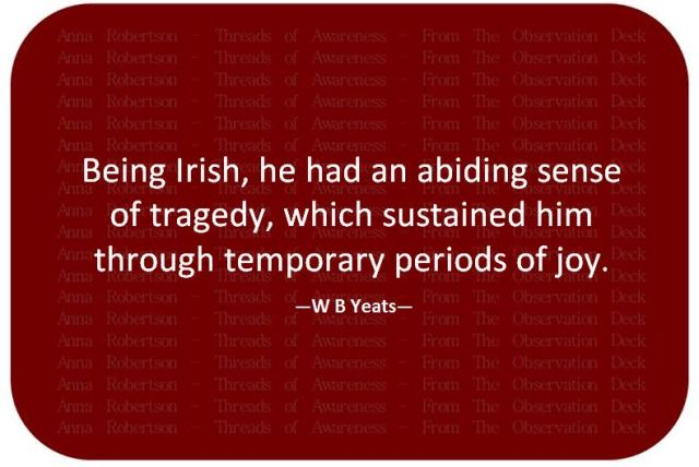 Yeats - Always quirky when it comes to Irish irony